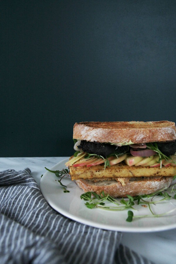 Grilled Tofu & Apple Sandwiches