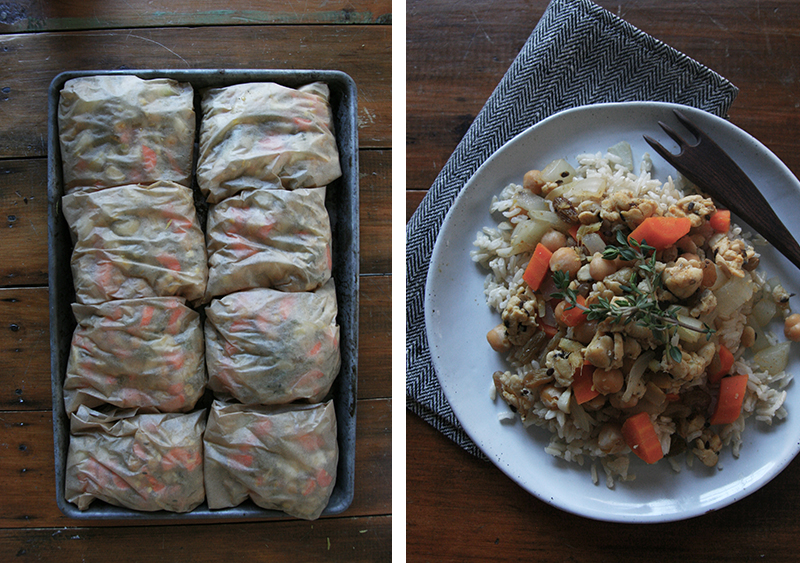 moroccan spiced tempeh with rice, vegan, vegetarian, gluten-free