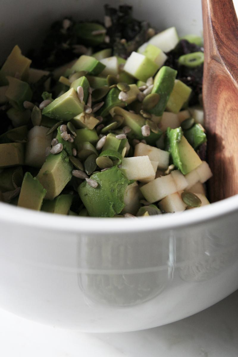 Green Apple + Avocado Kale Salad