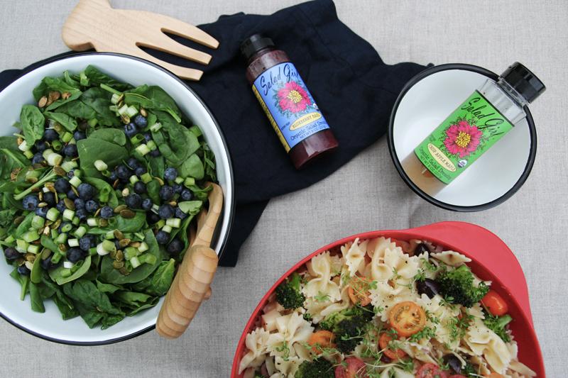 Two Salads with Salad Girl