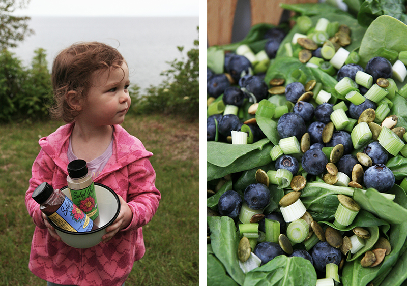 Two Salads with Salad Girl Organic Dressings